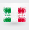 italy flag made up of dots vector image vector image