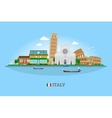 Italy skyline vector image vector image