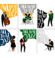 jazz banners set vector image vector image