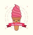 kawaii ice cream design vector image vector image