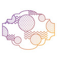 label memphis pattern decoration fashion abstract vector image vector image