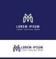 letter m line logo design linear creative minimal vector image vector image