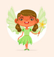 little girl child character princess suit vector image vector image