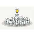 little white people with creative leader creative vector image vector image