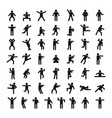 man people stick icon set simple style vector image