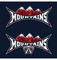 mountains sport team emblem design template vector image vector image