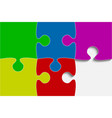 multu color piece puzzle jigsaw vector image vector image