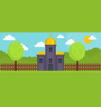 orthodox church banner flat style vector image