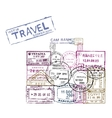 passport stamps vector image vector image