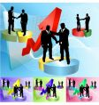 piechart people business concept illustration vector image vector image