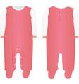 pink baby bodysuit vector image