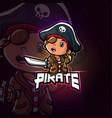 pirate mascot esport logo design