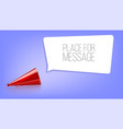 red megaphone on blue background with speech vector image