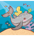 sea animals with exotic seaweed plants vector image vector image