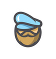 sea captain seafarer icon cartoon vector image