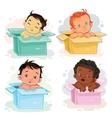set of babies different races vector image