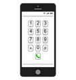 smartphone mobile phone dialer features vector image