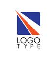 square stripe logo vector image vector image