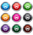 steering wheel of taxi set 9 collection vector image vector image