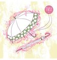 Stylish of two umbrella open and closed vector image