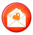 Vintage envelopes and heart icon flat style vector image vector image