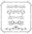 vintage ornaments and frame vector image vector image