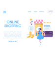 web design template online mobile shopping page vector image