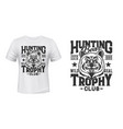wild bear t-shirt custom print mockup vector image vector image