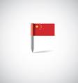 china flag pin vector image