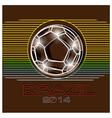 Brazil football 2014 vector image