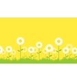 Background of flower spring collection vector image
