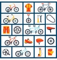 Bicycle accessories flat icons set vector image vector image