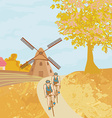 Bike training in the autumn vector image vector image