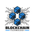 blockchain cryptocurrency payment technology icon vector image vector image