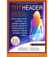 Bright Flyer Template vector image vector image