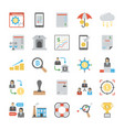 business colored icons set vector image