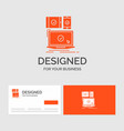 business logo template for computer devices vector image
