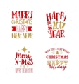 Christmas and New Year Typography Set vector image vector image