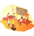 Co-working Office Space With Blackboard vector image vector image