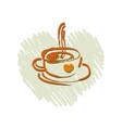 Coffee or cup of tea on a white background vector image