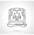 Coffee shop flat line design icon vector image