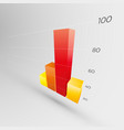 colorful graph 3d icon vector image