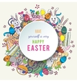 Colorful happy easter greeting card in vector image vector image