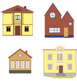 cozy houses isolated elements on white background vector image vector image