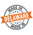 delaware orange grunge ribbon stamp on white vector image vector image
