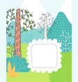 doodles cute card vector image vector image