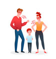 family parents people quarrel mother and father vector image