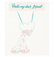 Friendship card or background vector image