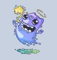 funny ghostly grimaces cartoon vector image