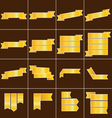 Gold ribbon icons set vector image vector image